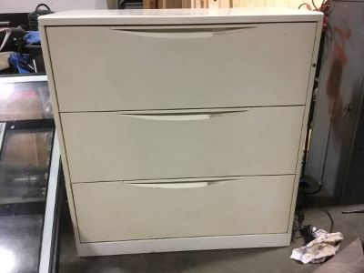 Three Drawer Lateral Filing Cabinet - Delivery Available