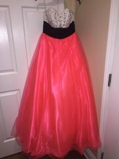 Size 10 Coral/ Hot Pink Jovani Gown $80