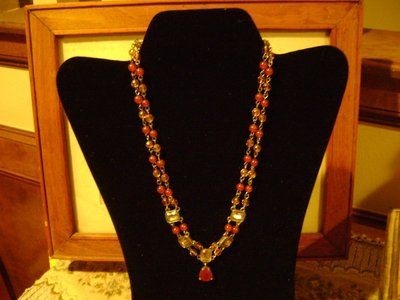 Antique-Look Double-Strand Gemstones Necklace - Gorgeous
