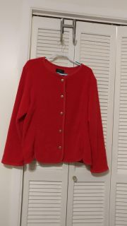 BEAUTIFUL RED SWEATER - I HOPED IT WOULD FIT! LOVE THIS