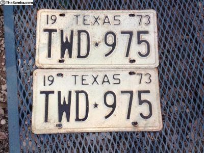 1973 Texas license plates