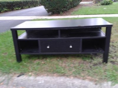 Curb Alert - black coffee table with drawer