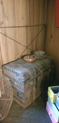 Big trunk inside drawer from 1865
