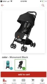 BRAND NEW Qbit stroller (still in box) and car seat and base