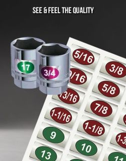 $4, Chrome Foil Labels for Socket Sets, Easily Read and Organize your Sockets in just 5 Minutes