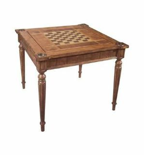 New Multi-Game Card Table, antique cherry finish, game board for chess
