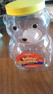 Large cookie container. Use for cookies, snacks, craft supplies or toys