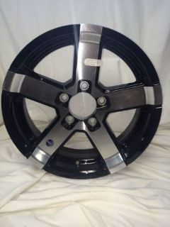 """Purchase 15"""" 5 LUG SERIES 07 BLACK ALUMINUM TRAILER WHEEL motorcycle in Chambersburg, Pennsylvania, United States, for US $93.00"""