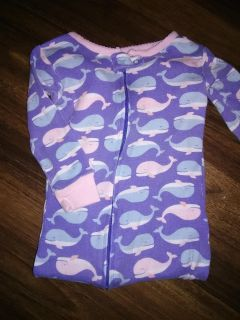 Whale footed onesie