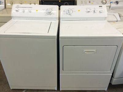 Kenmore Washer and Electric Dryer Set in White