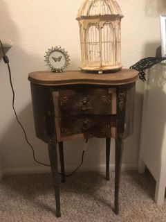 Antique night stand project piece solid wood