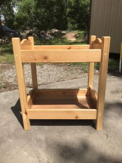 Solid wood handmade doll bed