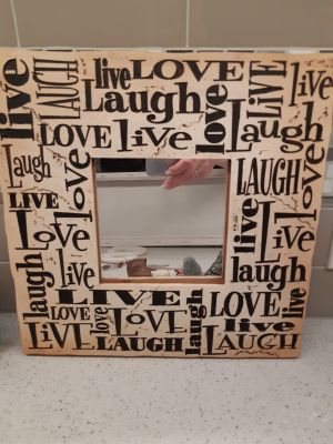 Live, Love, Laugh Mirror