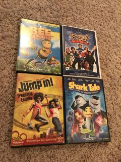 4 family friendly movies-DVDS, $5/all