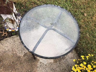 Small Glass top patio table