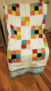 Large heavy handmade quilt clean no stains some wear due to age