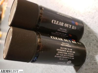 For Sale: (2) Tear Gas Canisters