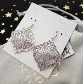 Brand new, Kendra Scott, silver filigree Kristen earrings!