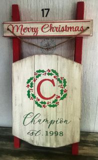 Christmas Sleigh- Personalized