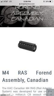 For Sale: Knight's Armament rails