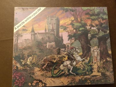 Puzzle-550 Pieces- knight with Fair Lady Scene