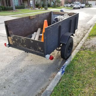 4x8 wooden enclosed trailer