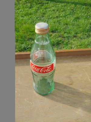 Vintage 1 liter Coca Colaglass bottle with lid