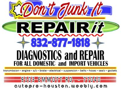 Mobile Mechanic Service for Houston, Katy, Cypress and Richmond, TX