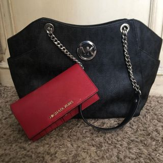 Real Micheal Kors easily used purse with wallet