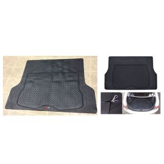 MotorTrend Heavy-Duty Premium Rubber Cargo Mat Trimmable Trunk Liner for Trucks and Sedans Multi Size