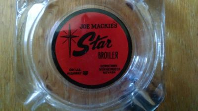 Vintage Ashtray for Joe Mackie's Star Broiler in Winnemucca Nevada