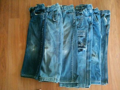 7 Pairs Size 6 Boys Jeans lot 32