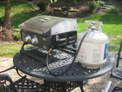 BRINKMANN Portable 2 Burner Gas Grill - GREAT FOR TAILGATING!