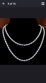 """18"""" Sterling silver. 925 rope chain"""