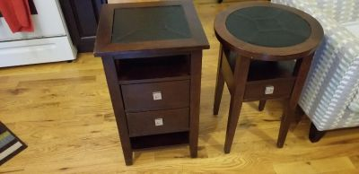 Raymour & Flanigan mahogany end tables