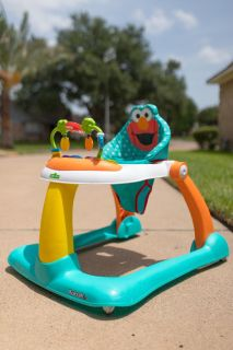 Like new Sesame Street Elmo 2-In-1 Activity Sit-To-Stand Baby Walker Infant Toddler Toy