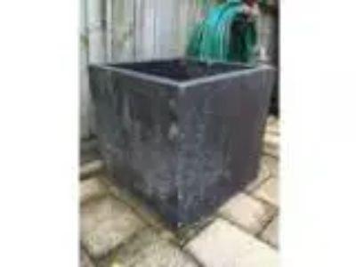 Black glass reinforced concrete planter
