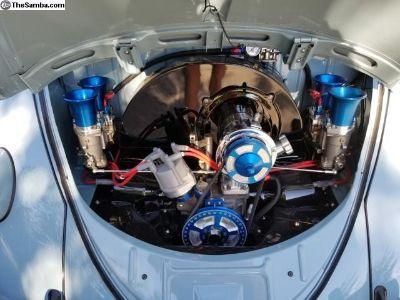 Jaycee blue billet engine accessories