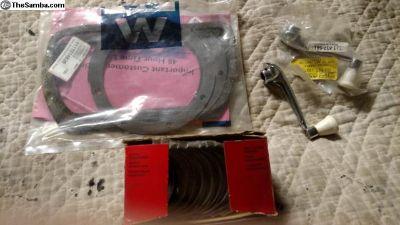 VW rod bearings, win. handles, valve / oil gaskets
