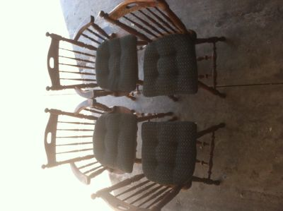 4 Wooden Kitchen chairs (with cushions)