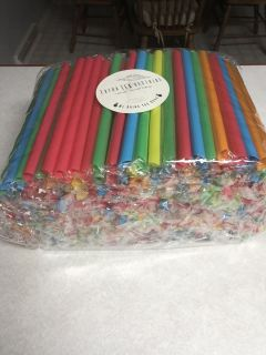 300 Colorful Extra Wide Smoothie Straws Individually Wrapped
