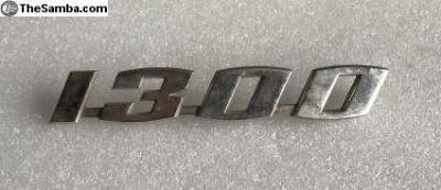 Original 1300 Rear Decklid Emblem Script