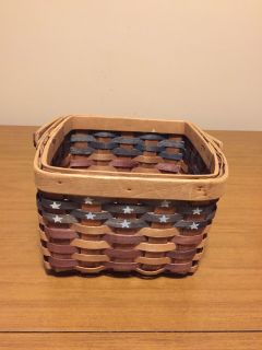"New Americana woven basket 6"" high by 9"" wide"