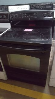 GE BLACK GLASS TOP STOVE