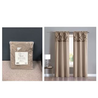 Mainstays Pintuck Floral Burst Grommet Top Window Curtain Panel - Set of Two