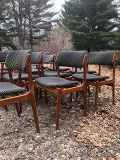Danish Erik Buch Teak Mid Century Modern Chairs