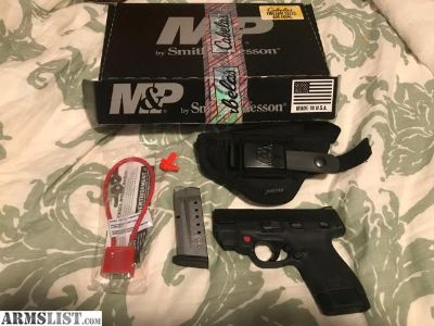 For Sale/Trade: Brand new M&P Shield 2.0 9mm with Crimson Trace and Holster!