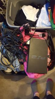 Ps2 with 2 controllers and all cords