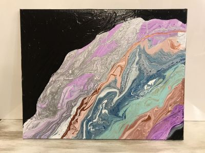 16x20 Acrylic Geode Done by Krissy Abstract