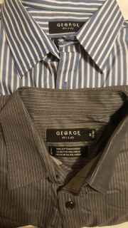 2 button downs by George, M 38/40,